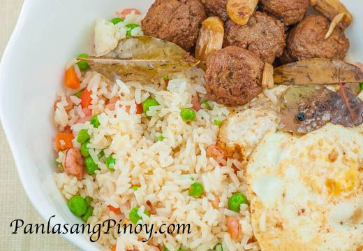 Meatball adobo with shrimp fried rice and egg recipe rice meatball adobo with shrimp fried rice and egg recipe rice filipino and egg ccuart Choice Image
