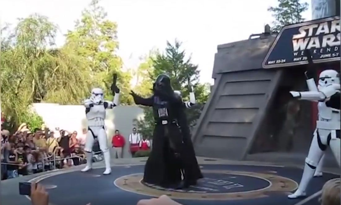 "Backstreet Boys post awesome video of Star Wars characters, Darth Vader and Stormtroopers, dancing to their song ""Backstreet's Back"" at Walt Disney World to celebrate ‪#‎MayThe4thBeWithYou‬."