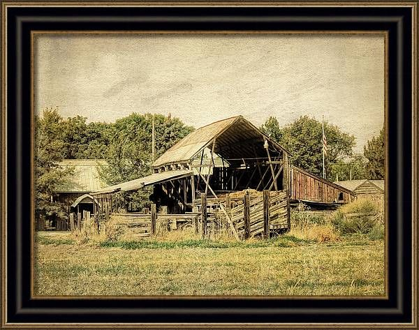 Landscape Framed Print featuring the photograph Rural Patriot by DK Digital. #art #artprints #wallart #framedprint #homedecor #rural #farmlife #countrylife #rurallandscape #rurallife