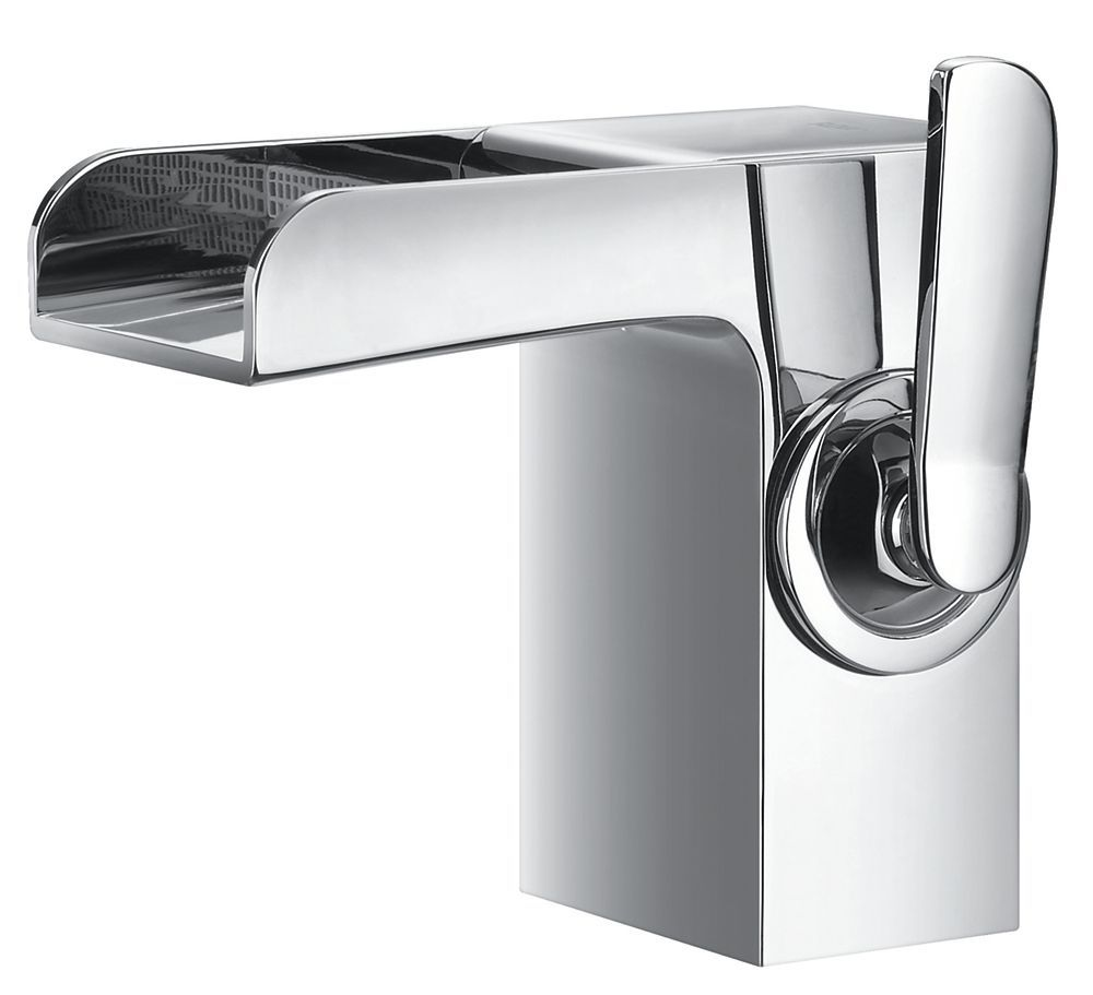 Rainfall Single Hole 1 Handle Low Arc Waterfall Flow Bathroom