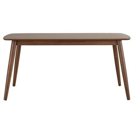 Cortland Danish Modern Dining Table  Walnut  Inspire Q  Modern Awesome Danish Modern Dining Room Design Decoration
