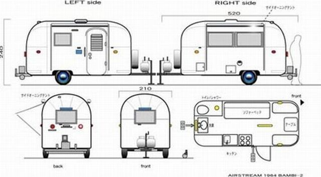 airstream dimensions