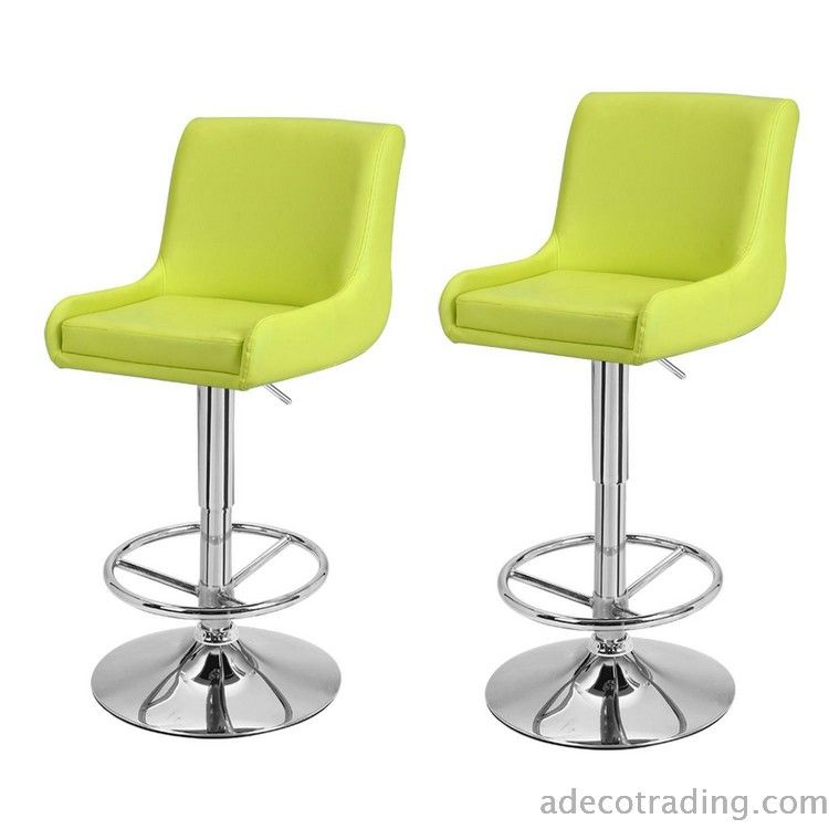 Rochelle Lime Green Bar Stool By Zuri Furniture 255 00 The Rochelle Brushed Steel Bar Stool Is A Green Bar Stools Home Bar Furniture Comfortable Bar Stools