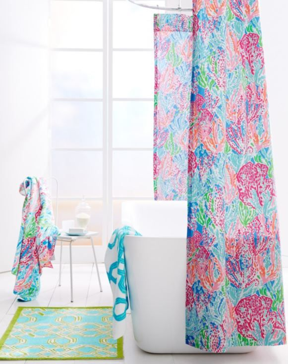 Lilly Pulitzer Sister Florals Shower Curtain By Garnet
