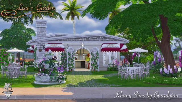 "Sims 4 CC's - The Best: Café ""Lisa's garden"" by Guardgian"