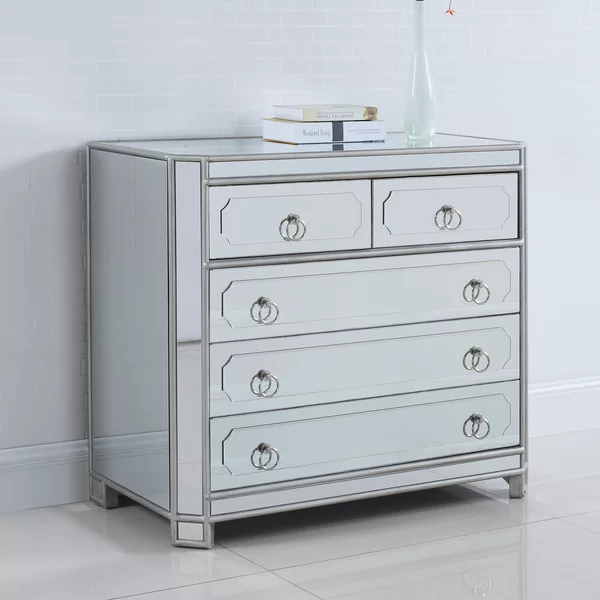 5 Drawer Chest In 2020 Mirror Chest Of Drawers Chest Of Drawers 5 Drawer Chest