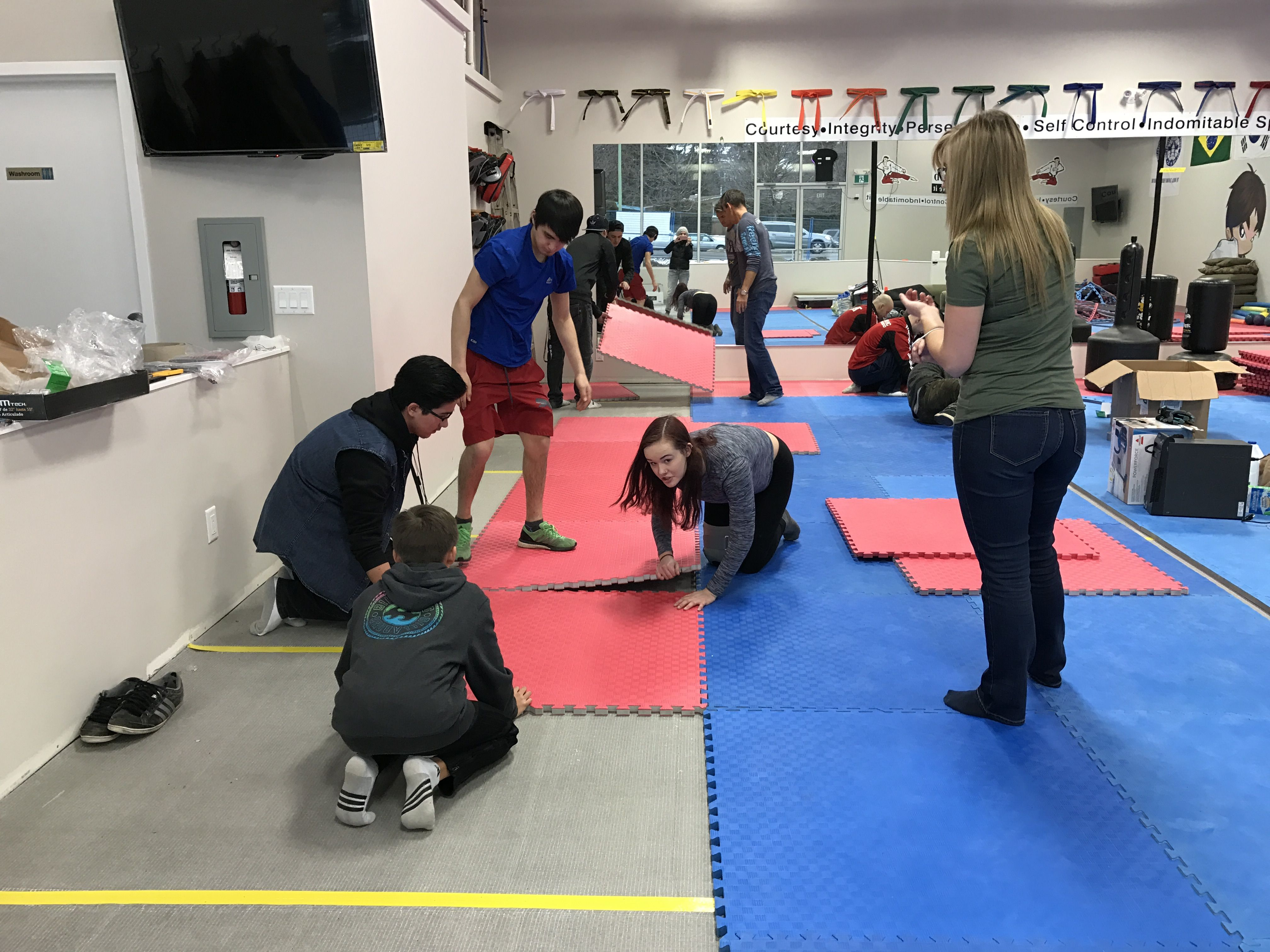 Some great pics of the team who came out and helped get the final touches done.   Go Team GMA! Thank you again to all our great volunteers.   www.glenmoremartialarts.com 250-868-8690  #teamwork #team #work #hardwork #glenmoremartialarts #kelowna #glenmore #martialarts #kids #sports #kidsmartialarts #martialartskelowna #afterschool #birthdayparties #open #selfdefense #confidence #respect #manners #fun