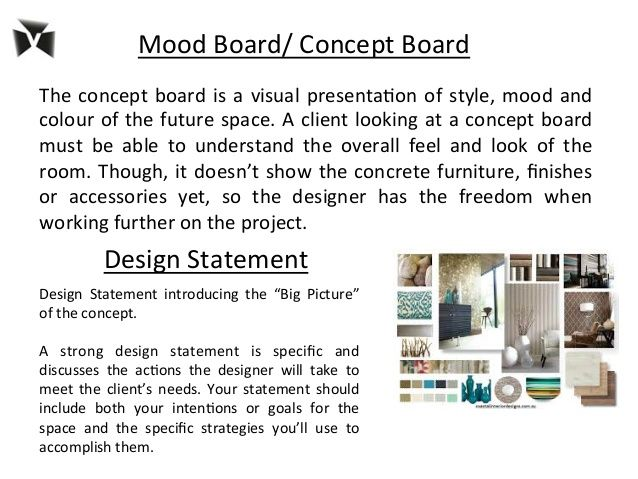 Concept Statement Interior Design VDIS10011 Restoration