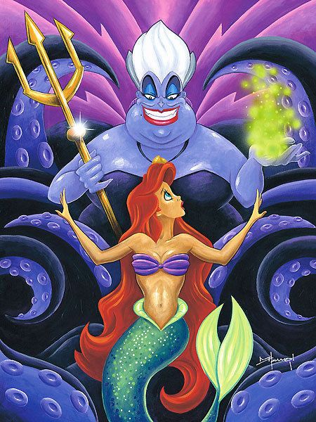 Little Mermaid  Sea Witch Ursula  Disney Fine Art -6875