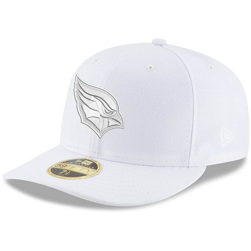 check out 7f259 6e992 Arizona Cardinals New Era White on White Low Profile 59FIFTY Fitted Hat