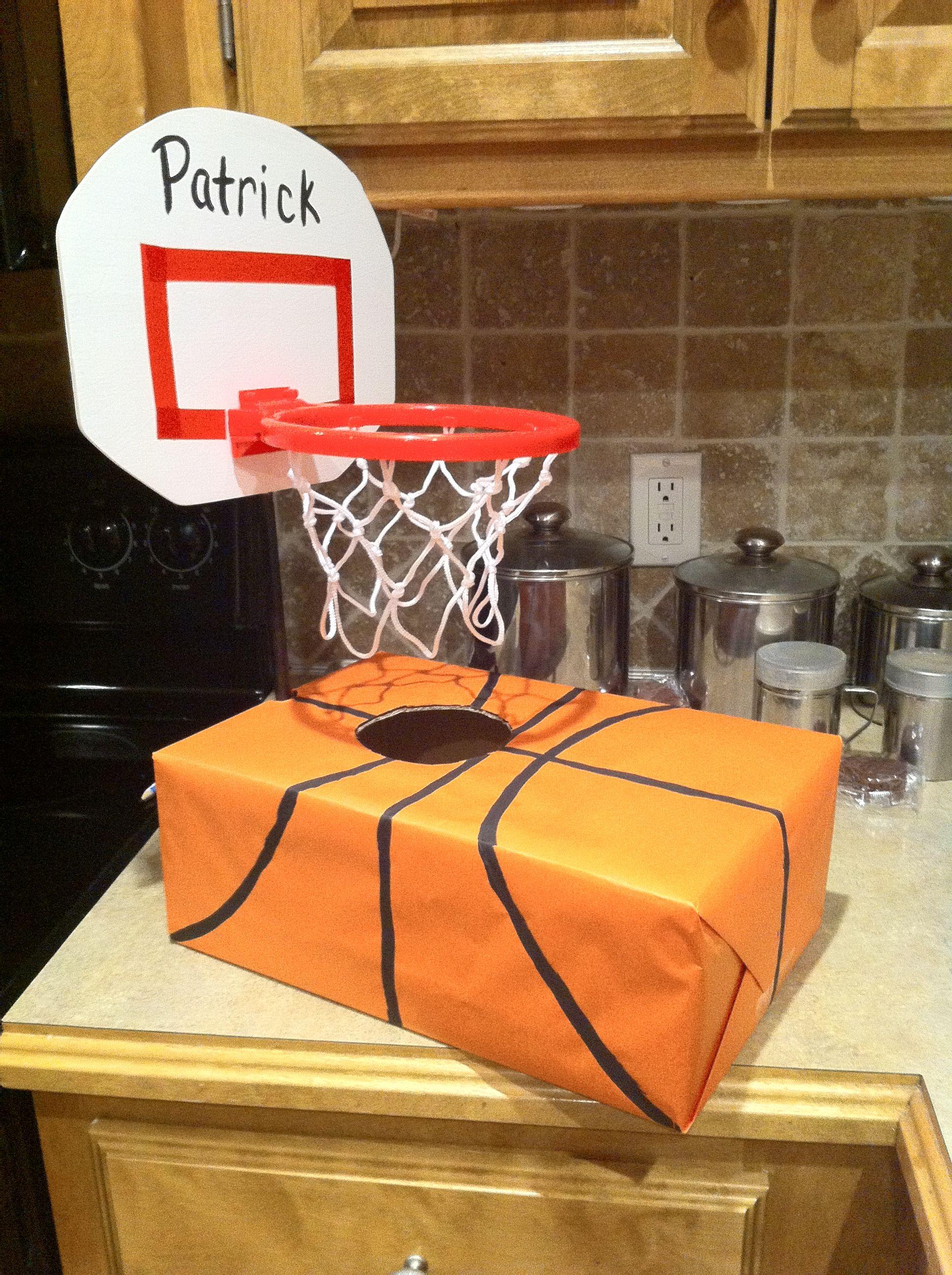 Basketball Valentine Shoe Box