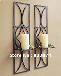 European Style Simple Candle Holder Iron Wedding Foreign Trade Wall Decoration Antique