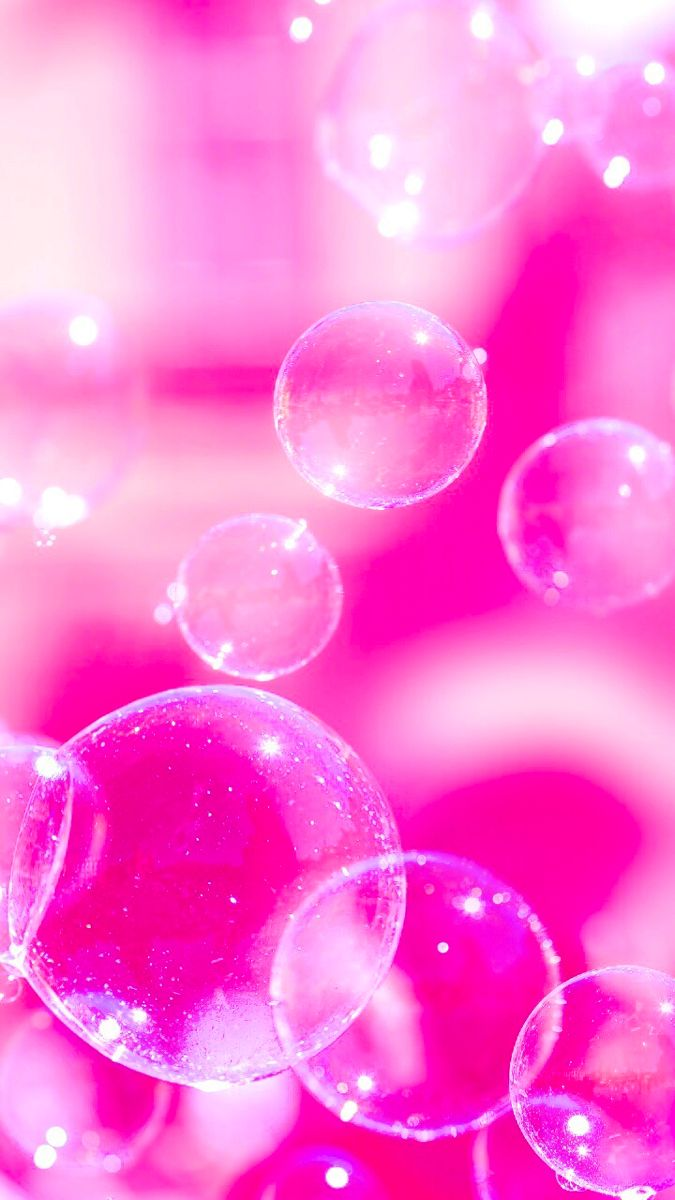 hot pink bubbles aesthetic in 2020   Pink glitter ...