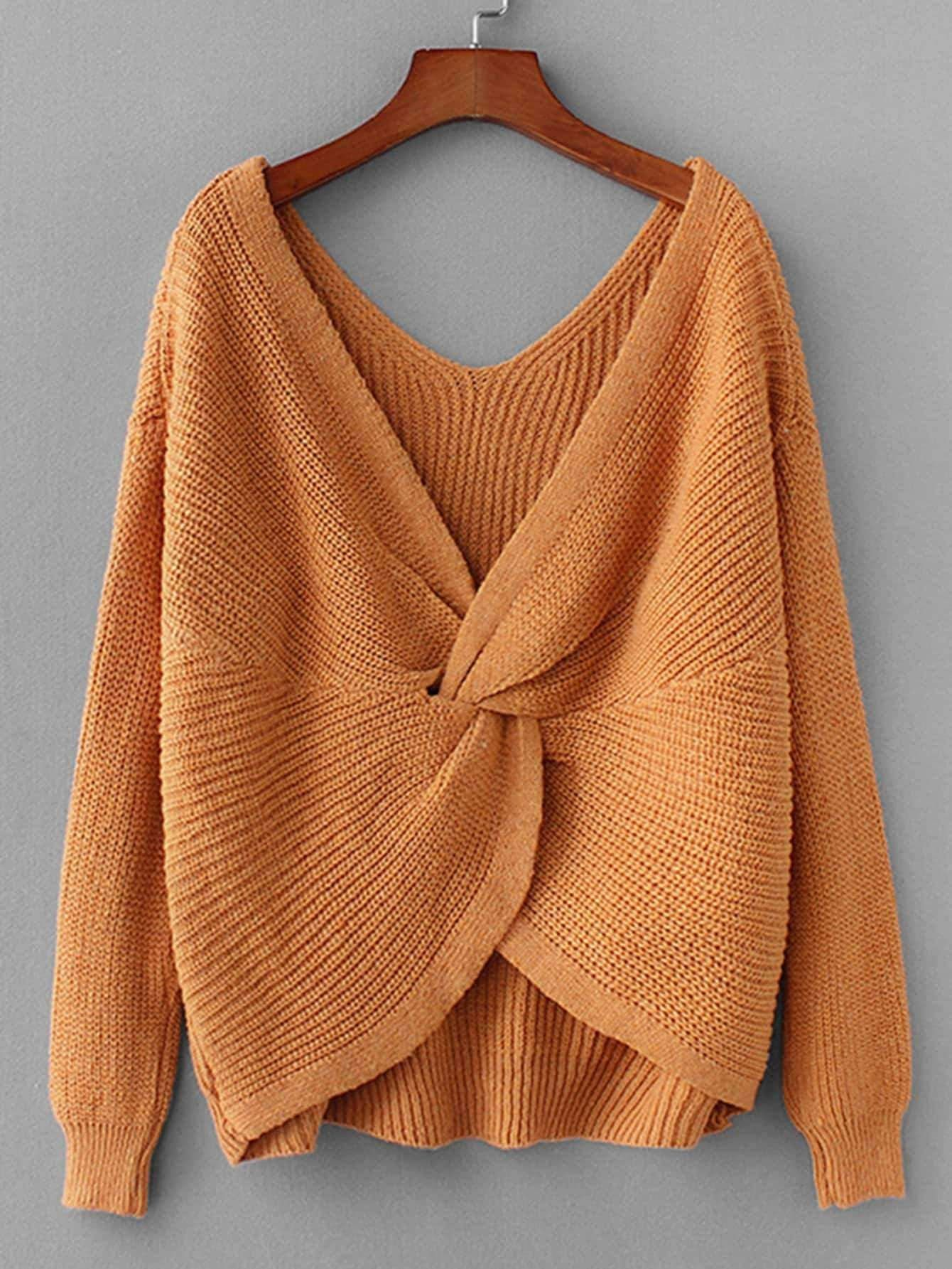 0deed0a9123 Twist Back Jumper in 2019   Pullovers & Sweaters   Matching sweaters ...