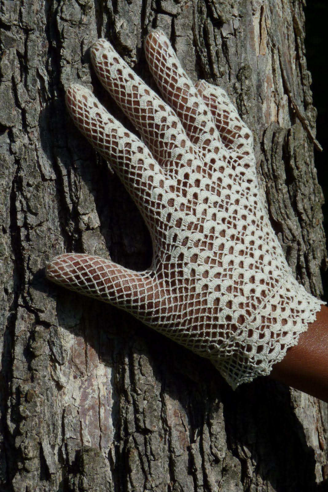 Fingerless gloves eso - Vintage Crochet Lace Gloves