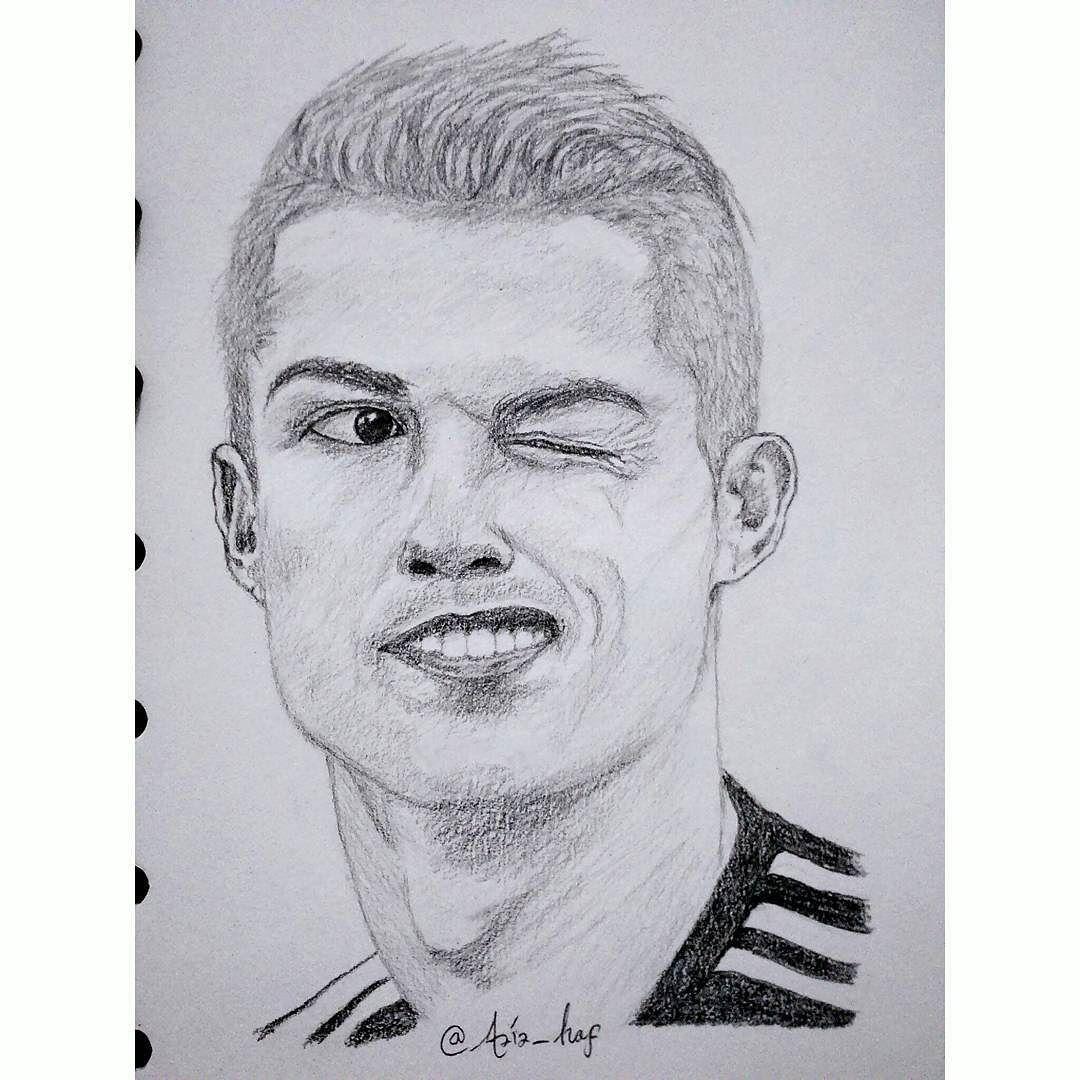 Kumpulan Gambar Sketsa Wajah Ronaldo