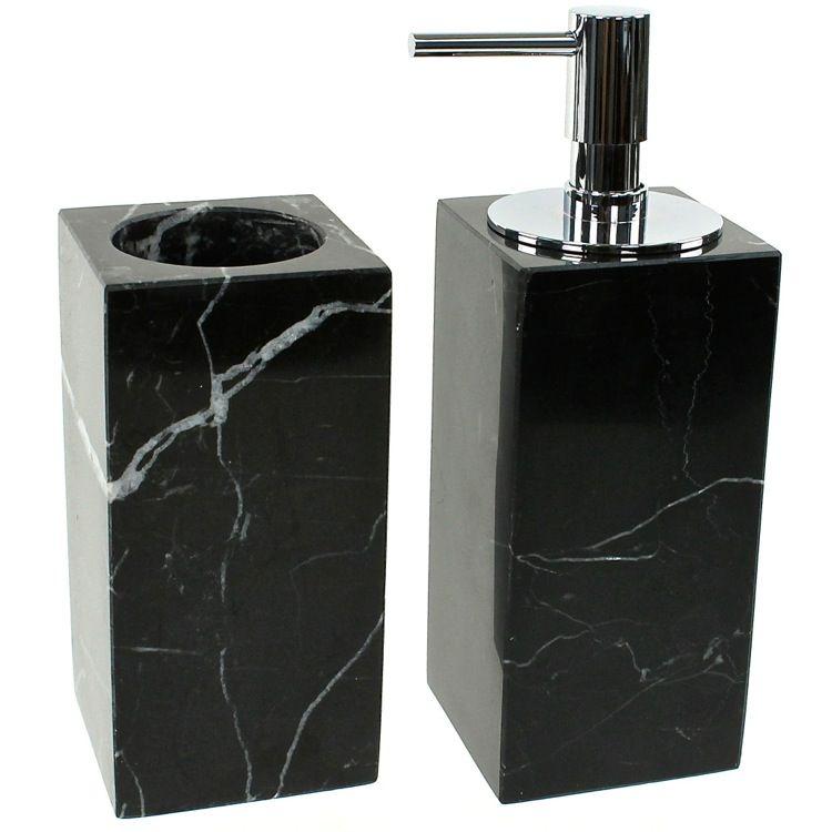 Bathroom Accessory Set Gedy An500 14 Black 2 Piece Marble Bathroom Accessory Set Marble Bathroom Accessories Bathroom Accessories Bathroom Accessories Sets