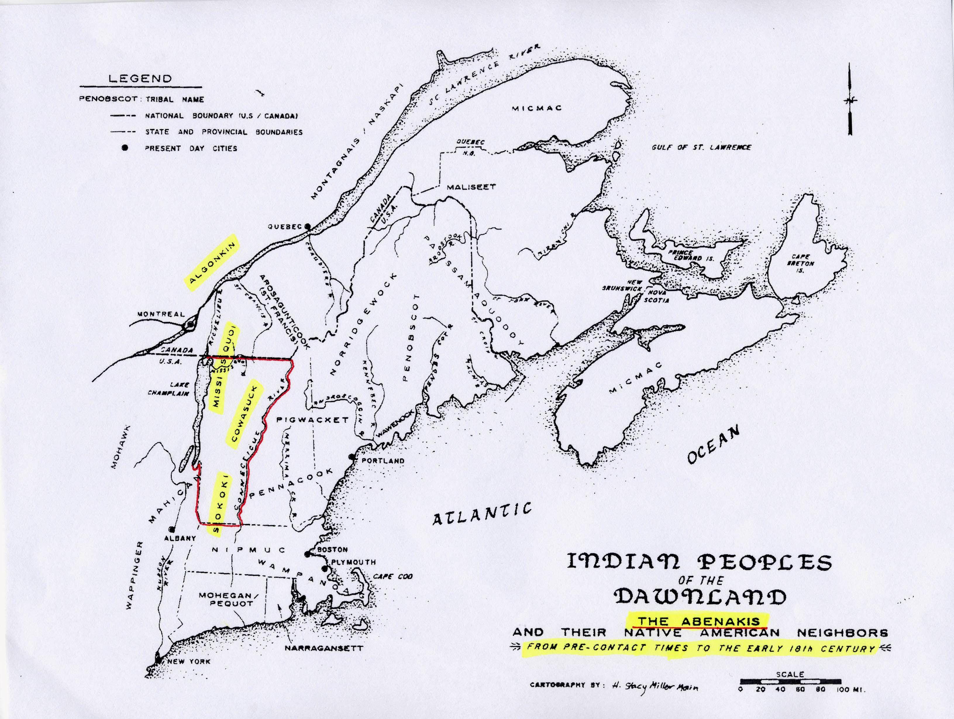 Abenaki Maps Below See The Following Important Abenaki