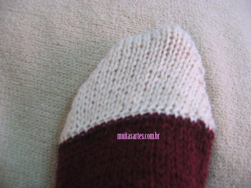 PAP  Meia de tricô (adulto) — Muitas Artes  fa2e21ae2ae