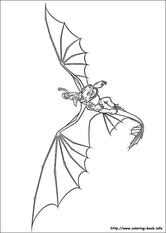 How to train your dragon coloring picture HTTYD Party