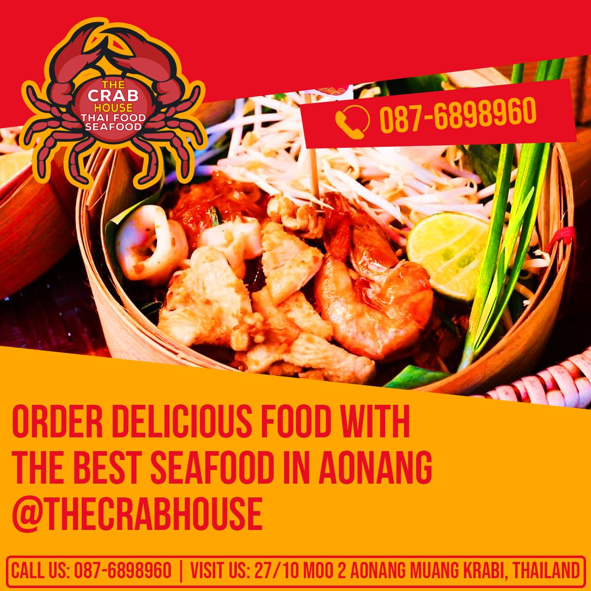 Order Delicious Food With The Best Seafood In Aonang
