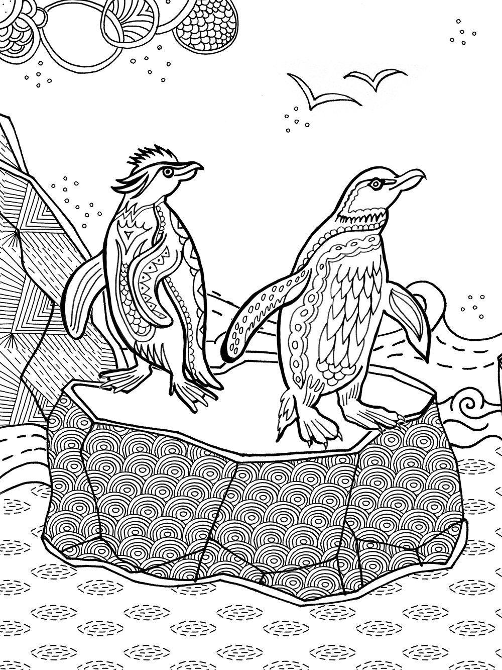 Ausmalbilder Erwachsene Tiere : Fantastisches Reich Der Tiere Meditatives Ausmalen Amazon De