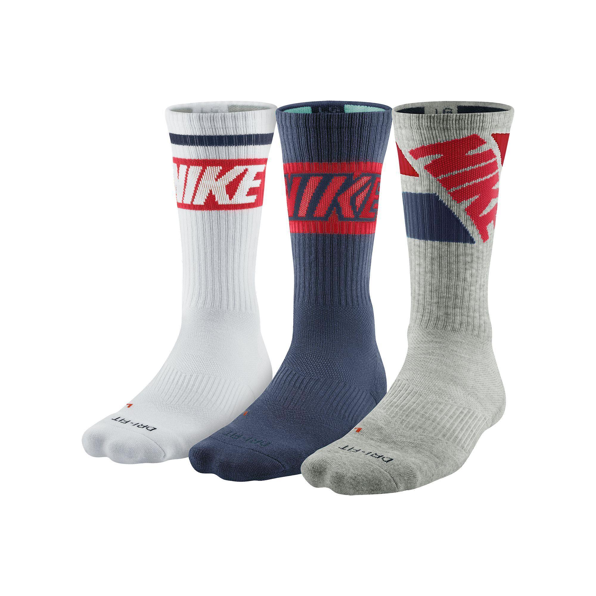 Men\'s Nike 3-pk. Dri-FIT Rise Crew Socks | Products | Pinterest ...