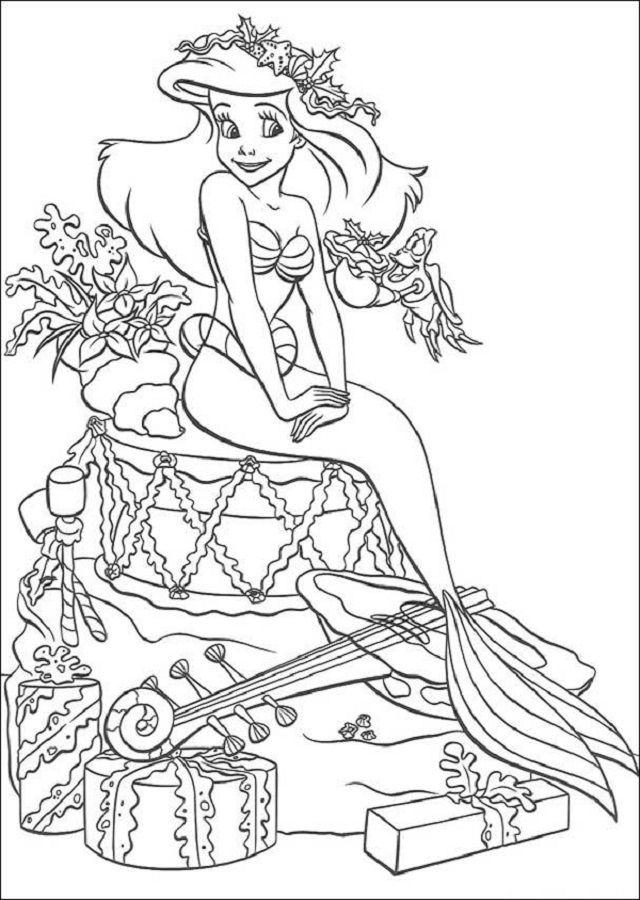 Dibujos Para Colorear La Sirenita Colorear Princesas Disney