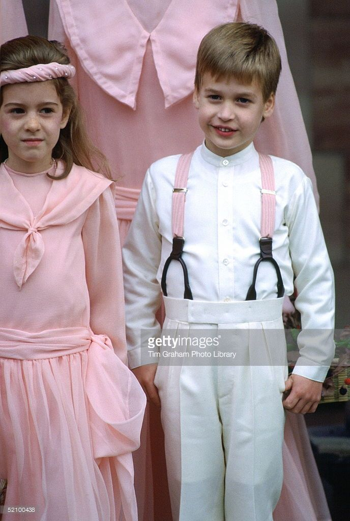 Prince William, Pageboy At The Society Wedding Of Miss Camilla Dunne To The Honourable Rupert Soames At Hereford Cathedral.