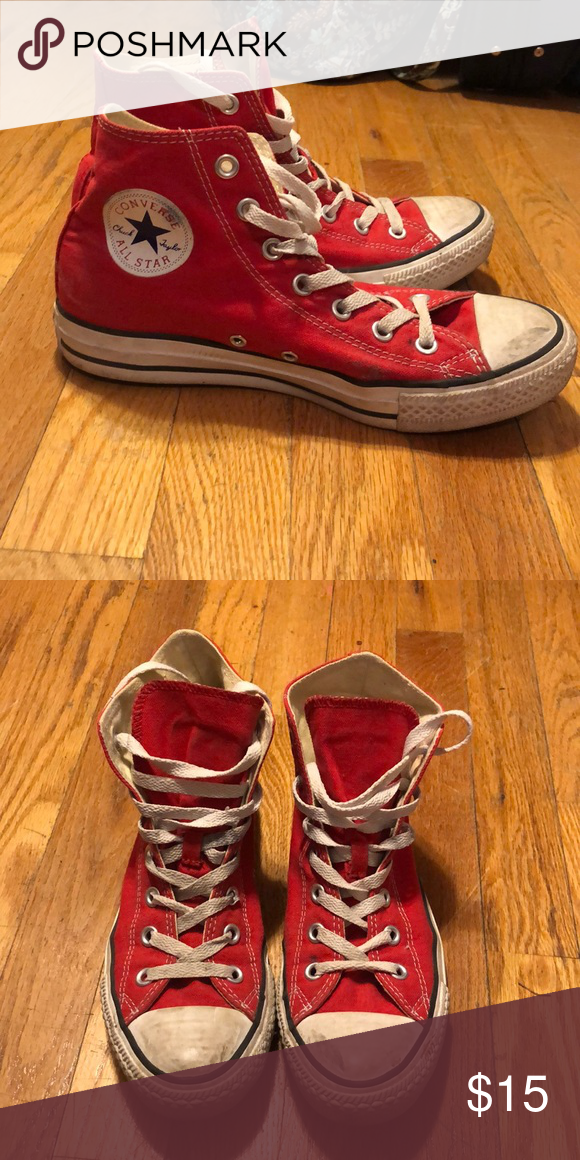 Red High Top Converse Red High Top Converse. Worn but in
