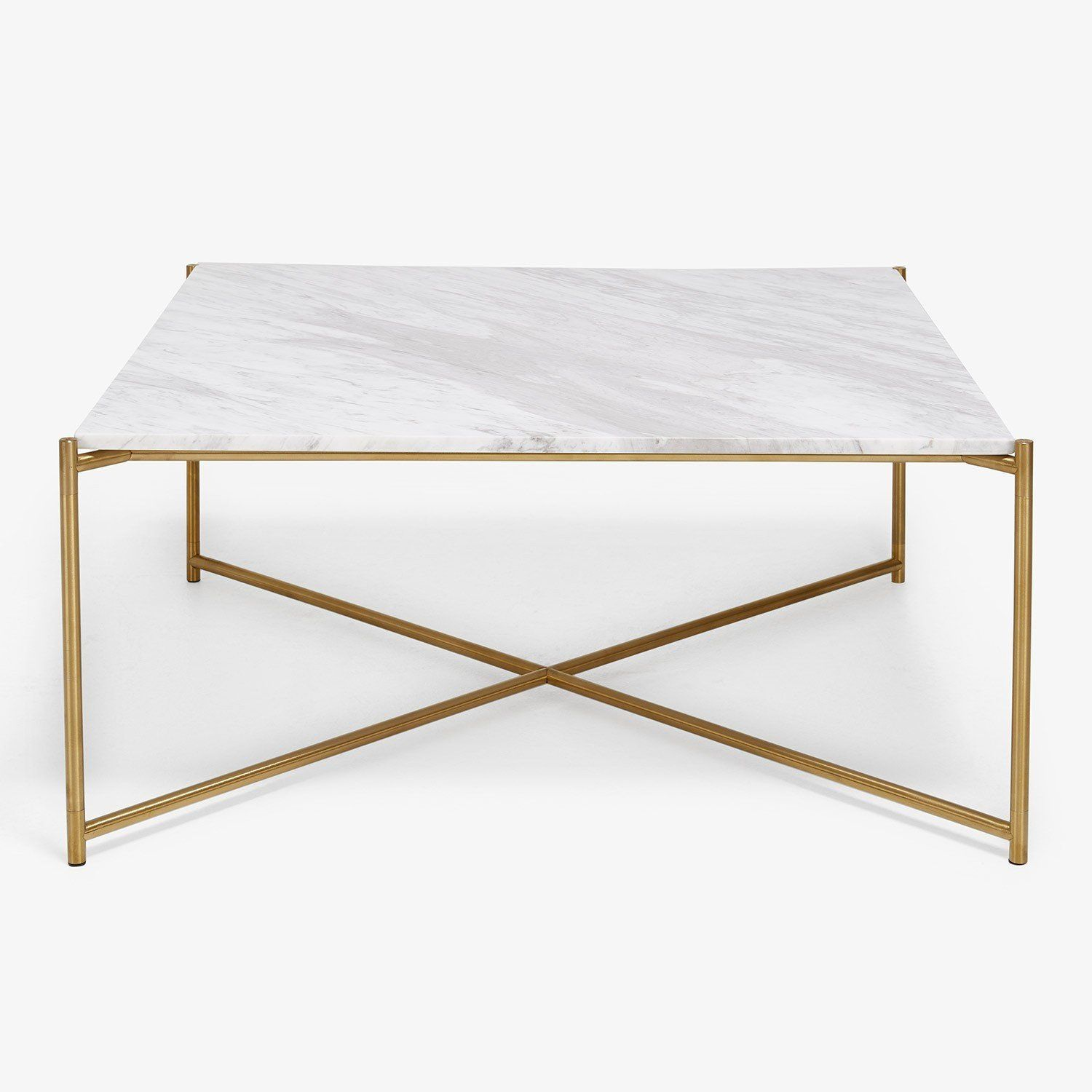 Irving Place Marble Brass Coffee Table Prospective Abode - Marble and brass end table