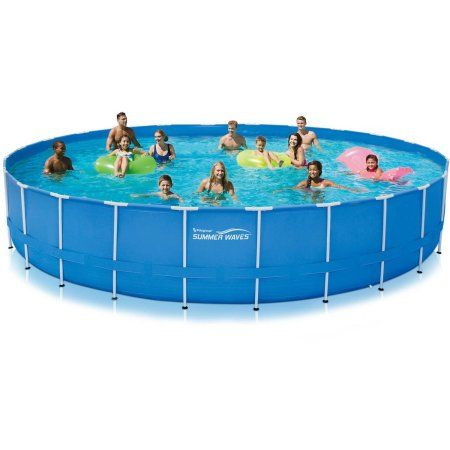 Summer Waves 24 Ft Active Frame Pool Walmart Com Above Ground Swimming Pools Pool Summer Waves