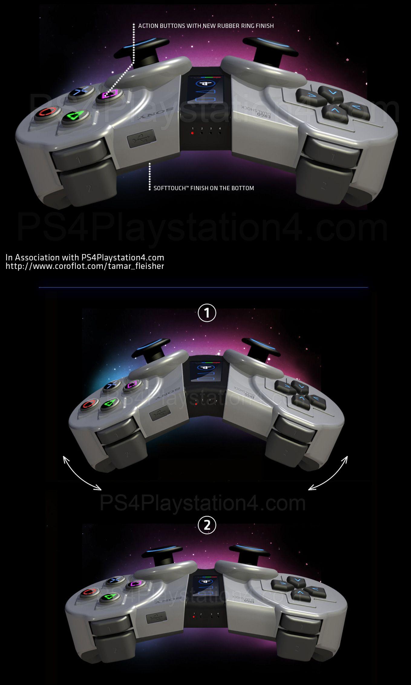 "PS4 Controller Concept ""ERGO DUALSHOCK"" Specs by Tamar"