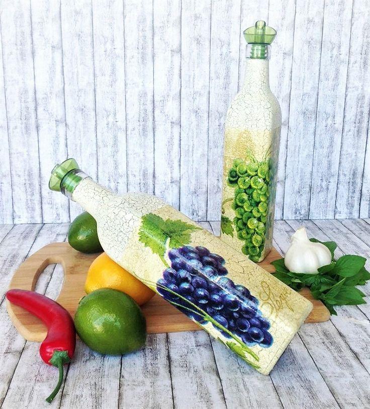 cruets for vinegar kitchen organization 2 glass bottle dispensers grapes decorations green on kitchen organization oil and vinegar id=39999