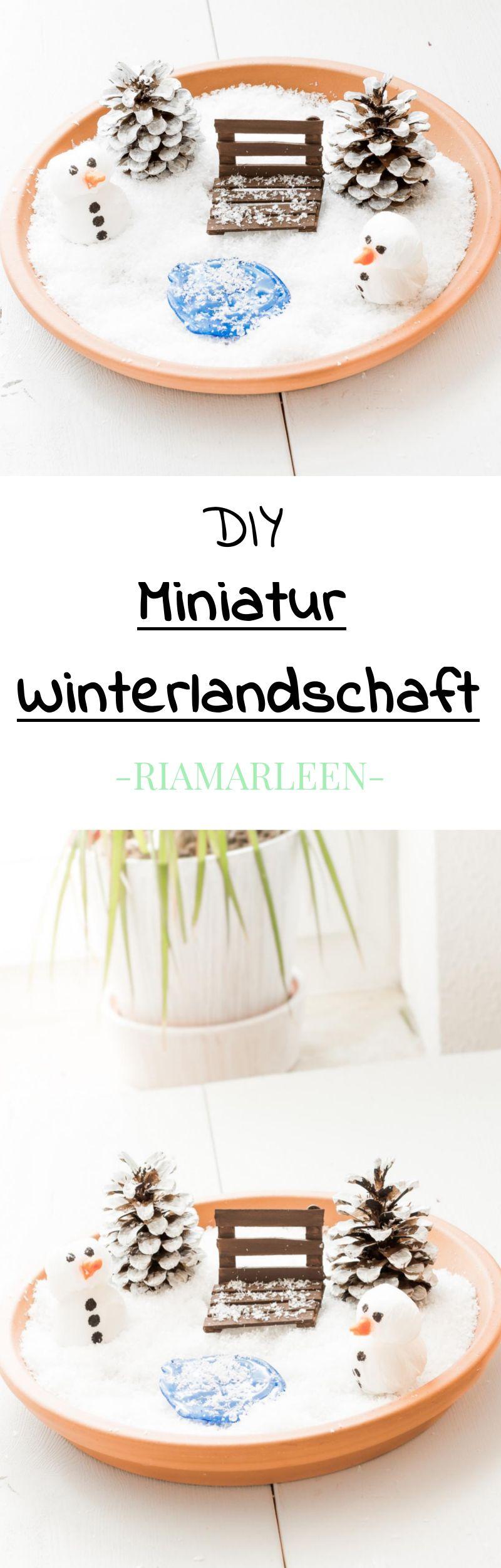 Sch ne winterdeko diy miniatur winterlandschaft basteln - Winterlandschaft deko ...