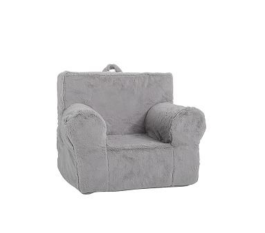 Gray Faux Fur My First Toddler Anywhere Chair 174 Chair