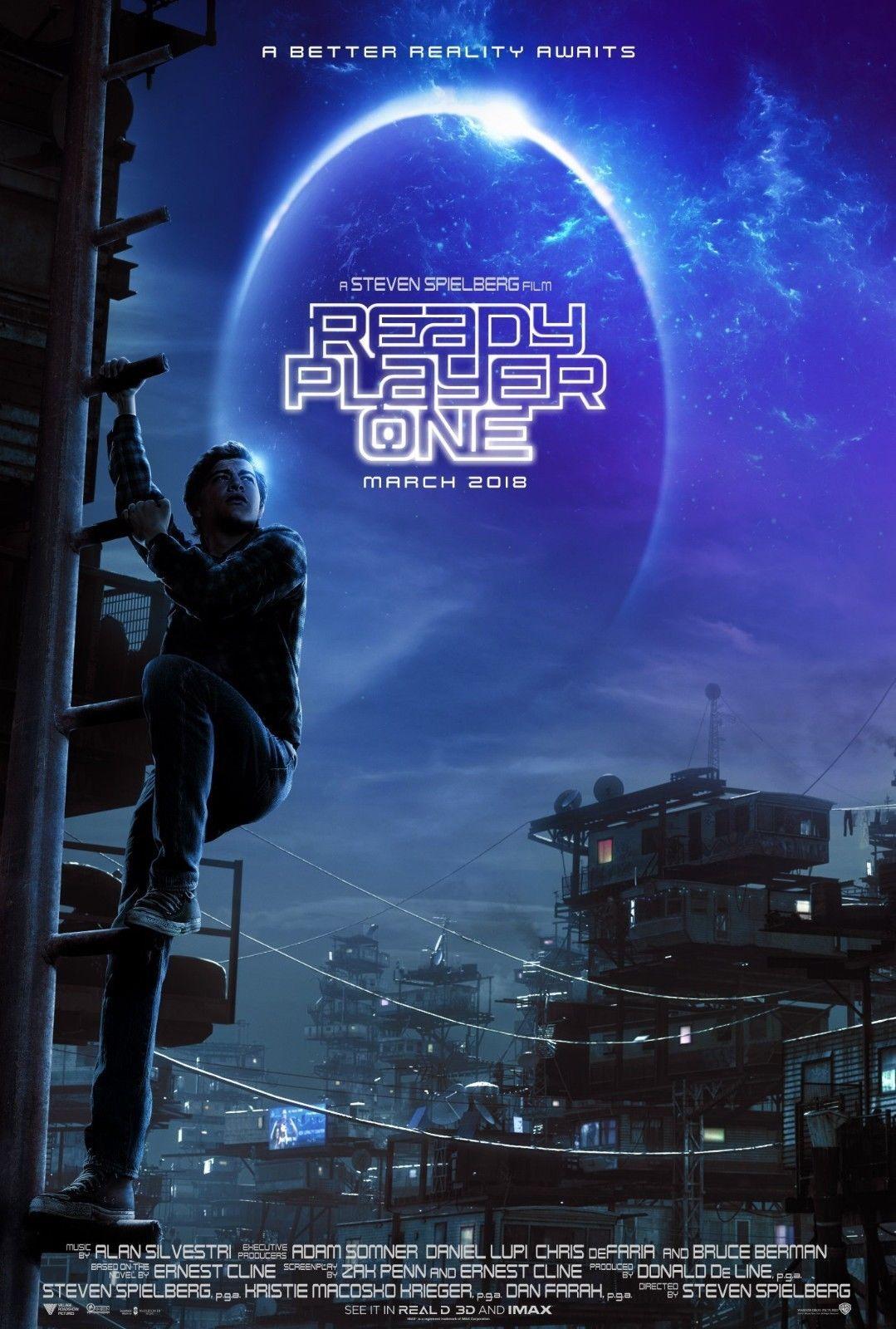 "Ready Player One Movie 2018 Steven Spielberg Film New Poster 24×36 27×40/"" 32×48/"""