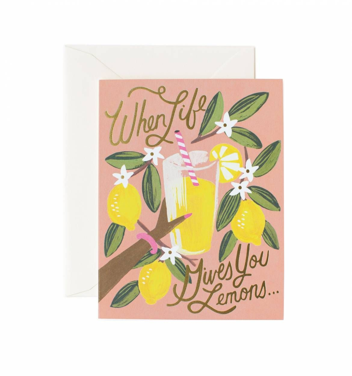 When Life Gives You Lemons Available As A Single Folded Card Or