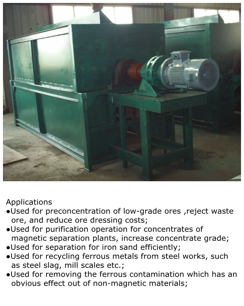 CTL dry drum magnetic separator for iron ore fines. If you are interested in this machine please contact me. skype:cathymagnetic email:cathymasmag@163.com