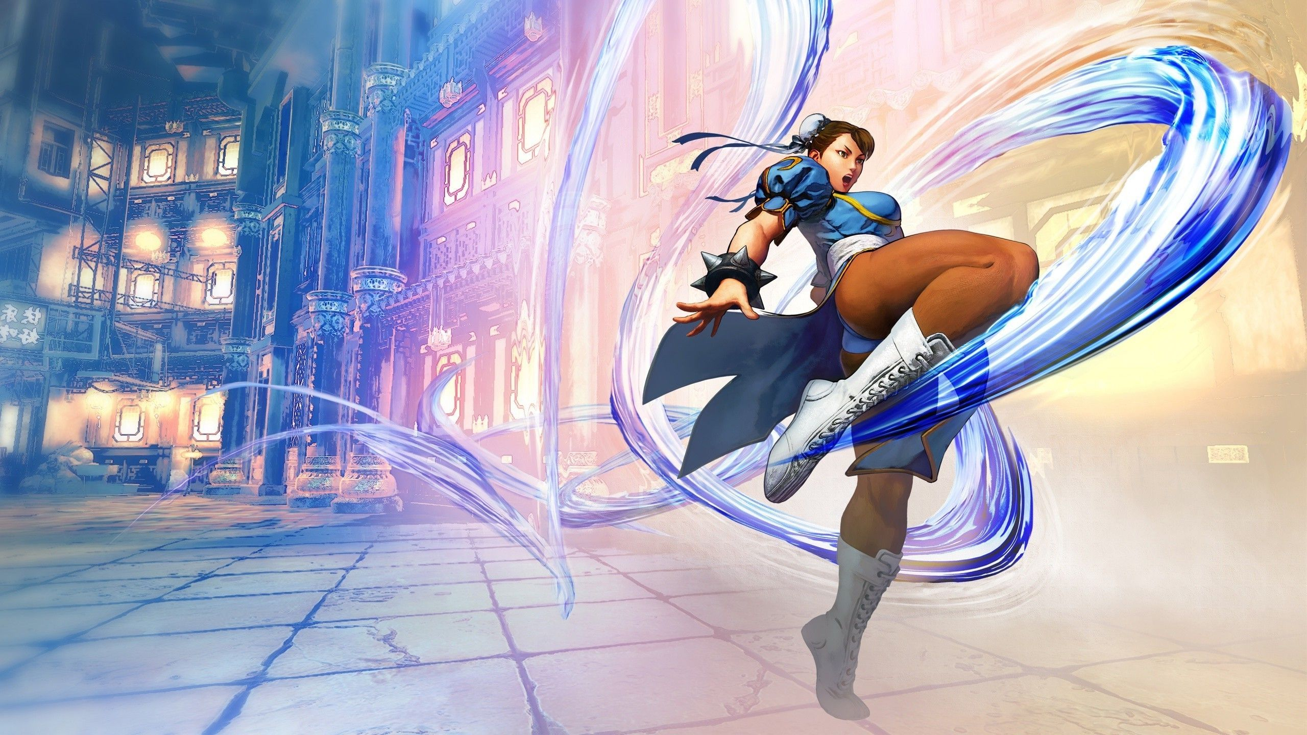 2560x1440 Video Games Video Game Girls Chun Li Street