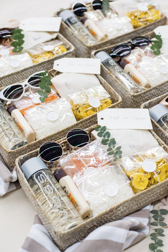 Photo of Beach-Inspired Welcome Baskets for Destination Wedding in Dominican Republic