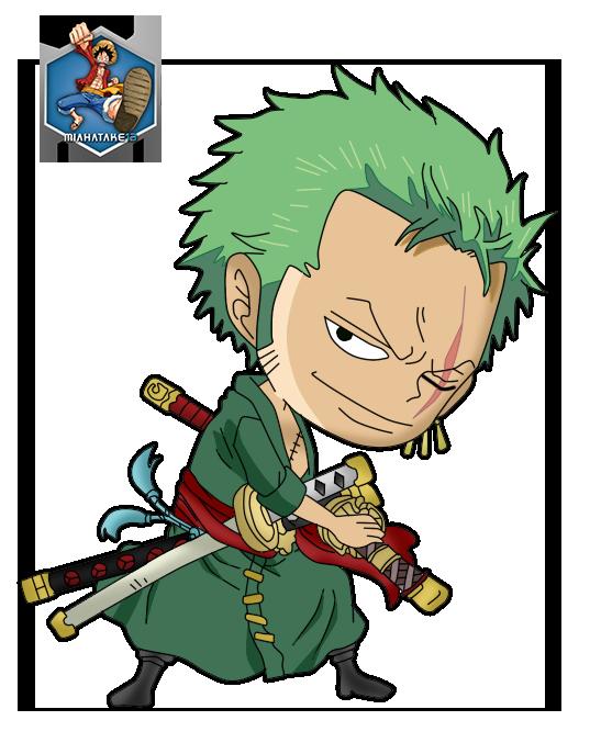 Roronoa Zoro Chibi PNG by miahatake13 [One Piece] by miahatake13 on DeviantArt