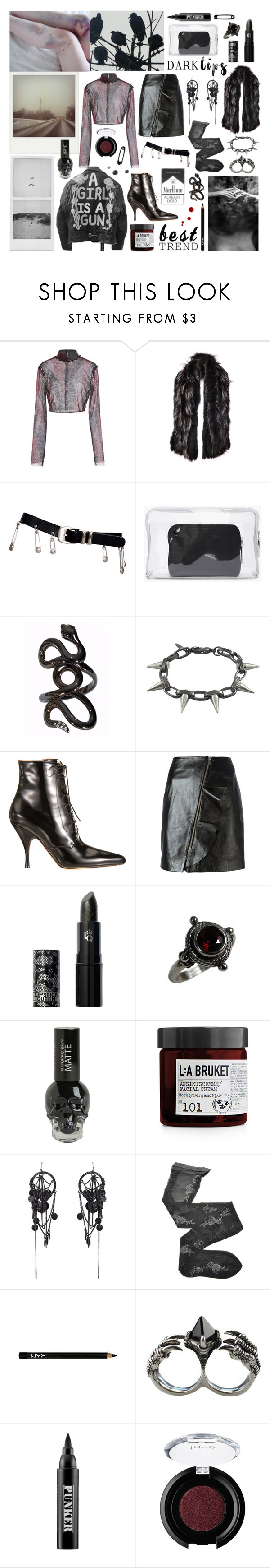 """""""I know about what you did and I wanna scream the truth"""" by nothingisnormal ❤ liked on Polyvore featuring Prabal Gurung, Gucci, Versace, 3.1 Phillip Lim, Polaroid, Repossi, Joomi Lim, Rochas, IRO and Lipstick Queen"""