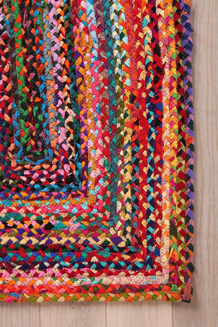 Rectangle Braid Rug Rugs Rag Mats Homemade