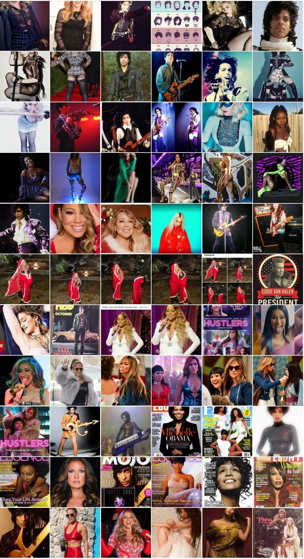 Mariah Carey Collage Poster