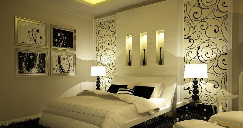Cream bedrooms All walls are painted off-white or cream color, the ...
