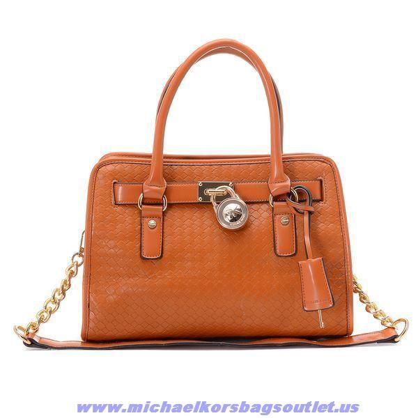 addf50c30dd9 Buy Michael Kors Hamilton Weave Leather Small Bags Chestnut On Sale ...