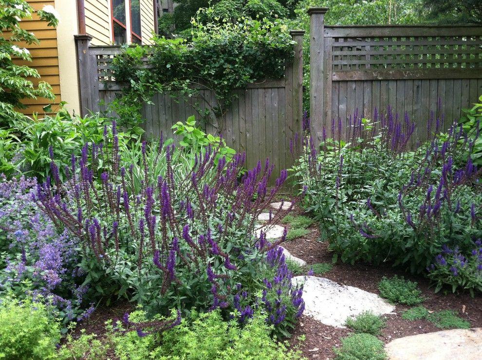 Glamorous-Dog-Fences-technique-Boston-Traditional-Landscape-Remodeling-ideas-with-bushes-mulch-purple-flowers-shrubs-stone-pathway-stone-pavers-stone-walkway-wood-fence-wood.jpg (990×740)