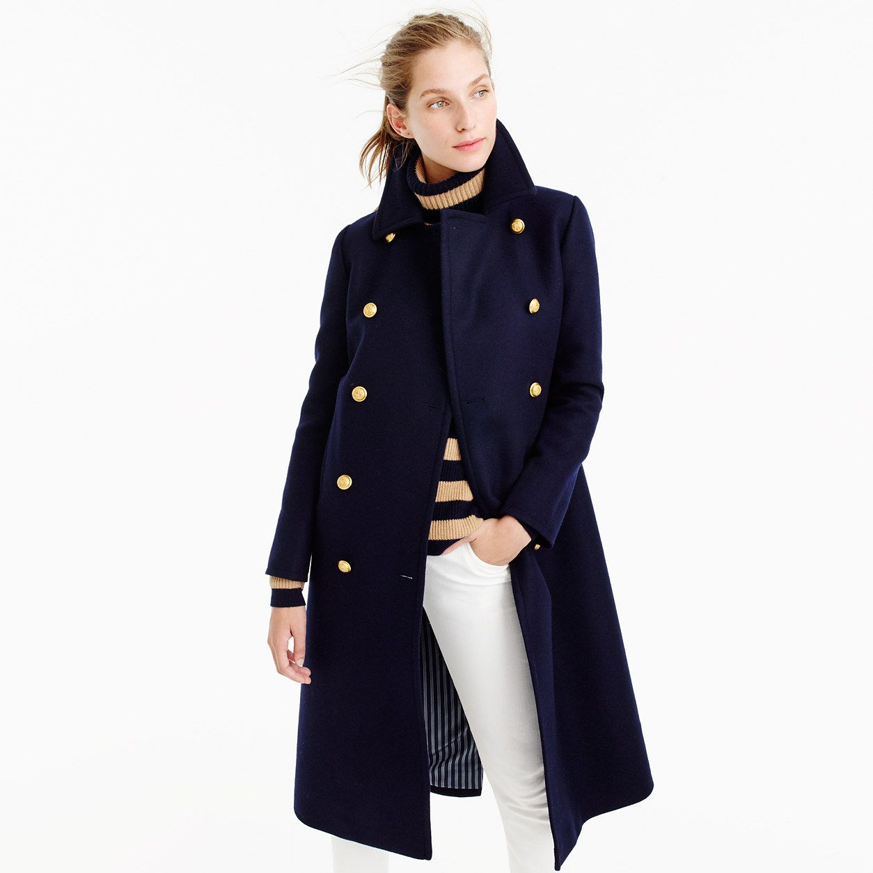 The Menswear Inspired Coat You Ll Still Be Wearing Years From Now This Military Fashion Clothes Coats Jackets Women