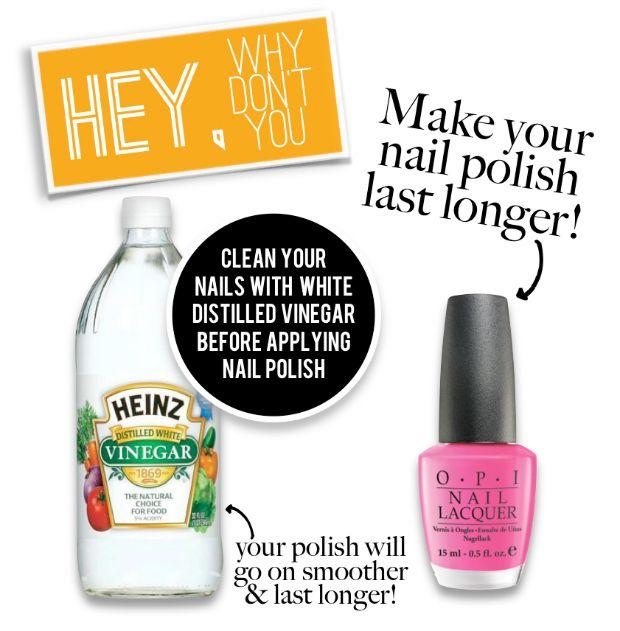 nail polish, diy, make it last longer, tanvii.com, vinegar, opi ...